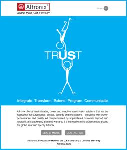 Altronix Trust Campaign E-Blast