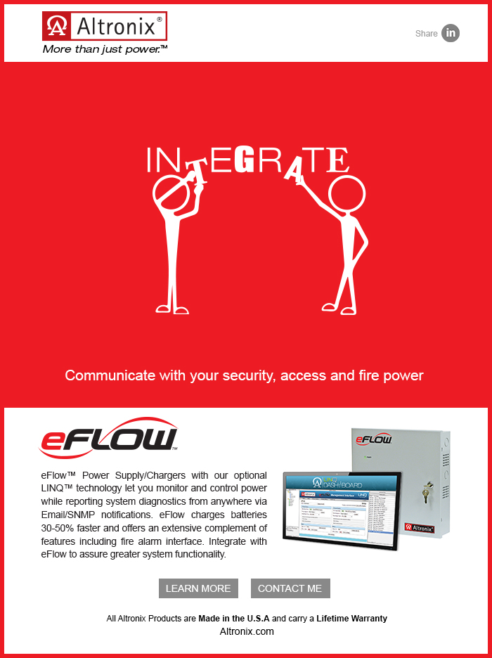 Altronix Integrate Eflow E-Blast