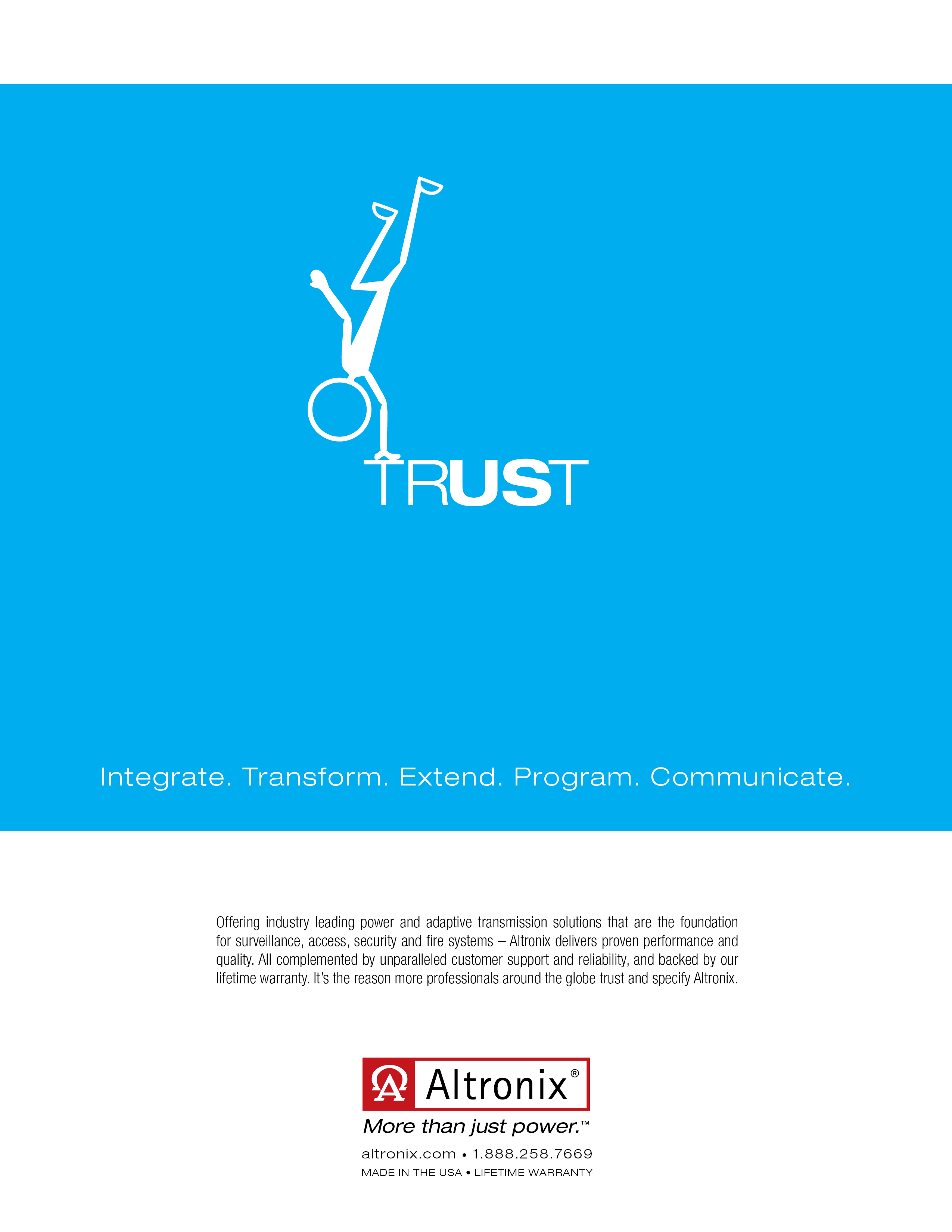 Altronix Trust Corporate Ad