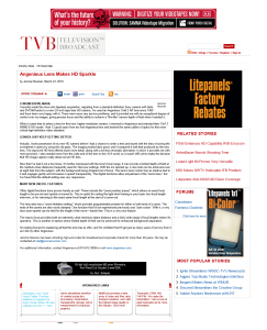 TVB | Angenieux Lens Makes ...