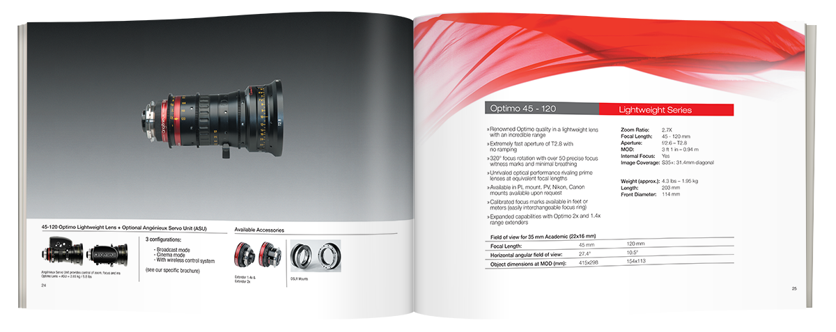 Angenieux product catalog 2015 Spread