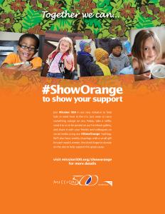 Mission 500 #ShowOrange Campaign