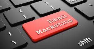 Email Marketing - Red Button Enter on Black Computer Keyboard.