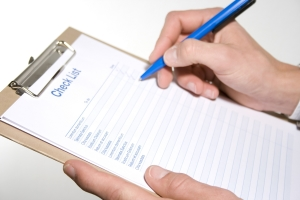 Klemmbrett miti Checkliste