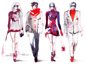 Show of male and female clothing collections